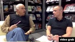 RFE/RL Georgian Service Director David Kakabadze (left) and Power Vertical author Brian Whitmore