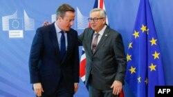 Британиянын премьер-министри Девид Кэмерон жана Европа комиссиясынын төрагасы Жан-Клод Юнкер