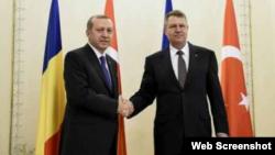 Președinții Tayyip Recep Erdogan și Klaus Iohannis, la București în aprilie anul acesta