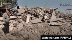 خسارات ناشی از جنگ میان نیروهای آذربایجان و ارمنستان در ناگورنو قرهباغ