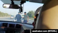 Дорожный контроль, Ашхабад (иллюстративное фото)