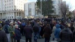 ВМРО-ДПМНЕ на протест по апсењето на нивни пратеници