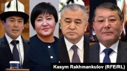 (Солдон оңго) Нуржигит Кадырбеков, Клара Сооронкулова, Өмүрбек Текебаев, Мелис Мырзакматов.