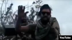 Фрагмент из видео с якобы участием чеченцев в конфликте в Нагорном Карабахе
