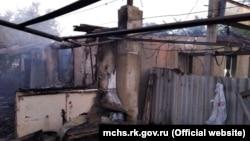 Последствия пожара в Нижнегорском районе Крыма