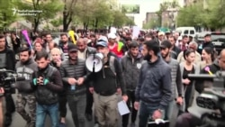 Thousands In The Streets Of Yerevan As Protests Continue