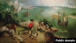 Пітэр Брэйгель Старэйшы, «Падзеньне Ікара» (1588)