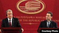 Премиерот на Македонија Никола Груевски и премиерот на Албанија Сали Бериша.