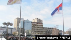 Kragujevac: Štrajk radnika fabrike automobila ¨Zastava¨, 28.12.2010.