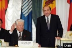 Ельцин и Березовский через 2 года после выборов, апрель 1998-го