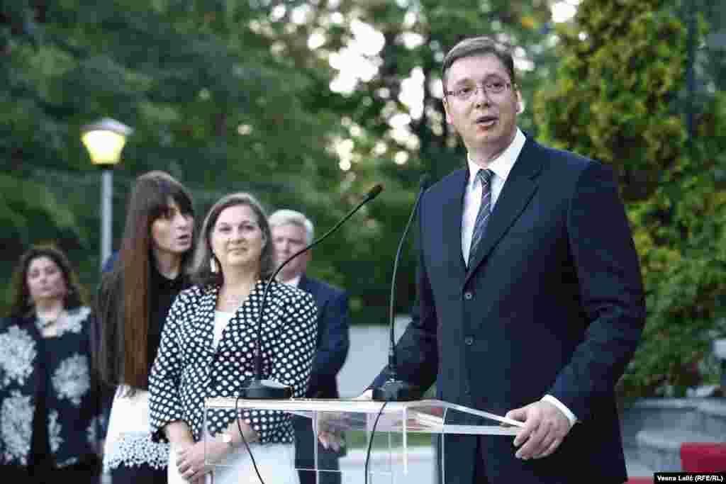 Viktorija Nuland i premijer u tehničkom mandatu Aleksandar Vučić