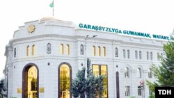 Türkmenistanda Saýlawlary we sala salşyklary geçirmek baradaky Merkezi toparyň binasy