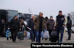 Участники предновогоднего обмена заключенными, отданные Украиной пророссийским сепаратистам