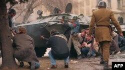 Романската револуција за соборување на Чаушеску.