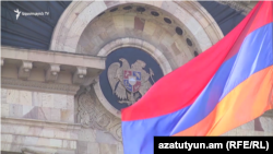 The Armenian Parliament building in Yerevan