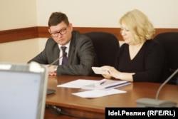 Представители Водоканала Марат Салахов и Анастасия Ибрагимова