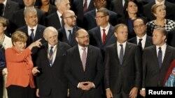 Претседателот на Европскиот совет Доналд Туск меѓу лидерите на ЕУ во Малта
