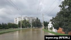 Последствия наводнения в Керчи, 16 августа 2021 года