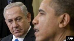 بنیامین نتانیاهو (چپ) در کنار باراک اوباما