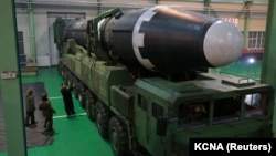 A North Korean Hwasong-15 intercontinental ballistic rocket
