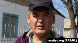 Жаңаталап ауылының тұрғыны Назымбек Бекжанов. Шымкент, 8 наурыз 2017 жыл.