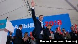 """Nawalnyý ýygnanyşykda eden çykyşynda prezident Wladimir Putini """"ýaramaz prezident"""" diýip atlandyrdy."""