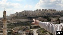 نمایی از منطقه هار هما در اورشلیم که اسرائیل می گوید قرار است ۱۲۱ واحد مسکونی در آن ساخته شود.(عکس: AFP)