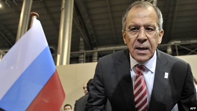Russian Foreign Minister Sergei Lavrov at the start of the 17th OSCE Ministerial Council meeting in Athens