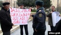 Prezident Administrasiyasının qarşısında yaşıllığın məhvinə etiraz