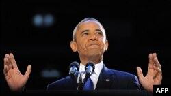 АҚШ президенті Барак Обама. Чикаго, 6 қараша 2012 жыл