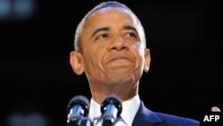 Барак Обама. Иллинойс штаты, 6 қараша 2012 жыл.