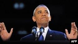 Президент США Барак Обама. Чикаго, 6 ноября 2012 года.
