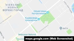 Правільная (Kastryčnickaja) і няправільная (Oktyabr'skaya) трансьлітарацыя беларускіх геаграфічных назваў на Google Maps