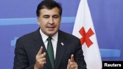 Грузия президенті Михаил Саакашвили. Брюссель, 14 қараша 2012 жыл.