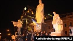 Акция протеста на Михайловской площади. Киев, 30 ноября 2013 года.