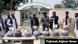 از کشفیات مواد مخدر در افغانستان.