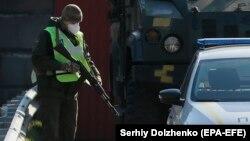 Національна гвардія на в'їзді до Києва, 24 березня 2020 року