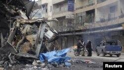 احد شوارع مدينة ادلب - 1 نيسان 2015