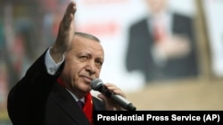 Turkish President Recep Tayyip Erdogan says Iran has joined a Turkish military offensive against Kurdish separatists.