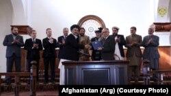 مراسم امضای قرارداد خریداری گبیون برای ۵ حوزه دریایی افغانستان در ارگ ریاست جمهوری