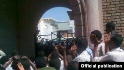 دانشجویان معترض در سودان