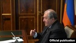Президент Армении Армен Саркисян (архив)