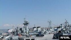 Архівне фото. Кораблі з'єднання «Блексіфор» у порту Севастополя, 2008 рік
