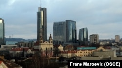 Pamje nga kryeqyteti Vilnius i Lituanisë