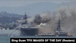 Пожежа на кораблі USS Bonhomme Richard, 12 липня 2020 року
