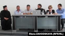 Участники пресс-конференции ознакомили журналистов с заявлением на имя генерального прокурора Абхазии