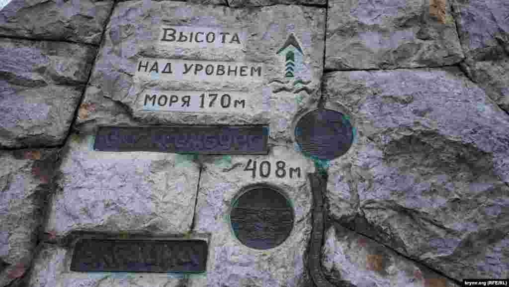 Фрагмент схеми стежки на початку маршруту