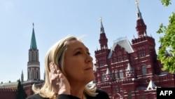 Лидер французской партии «Национальный фронт» Марин Ле Пен. Москва, 26 мая 2015 года.