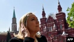 Marine Le Pen gjatë vizitës në Moskë maj, 2015.