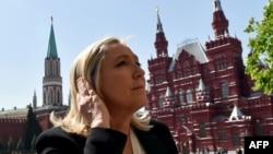 Лідер «Національного фронту» Марін Ле Пен під час візиту до Москви. Травень 2015 року